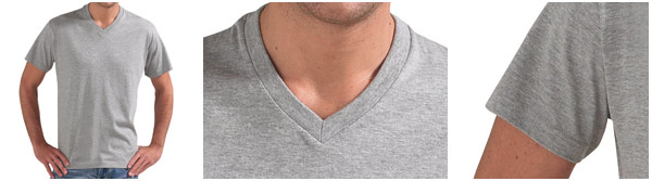 Tee shirt homme, manche courte, col