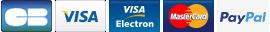 Payer avec carte bleue, carte de crédit ou Paypal